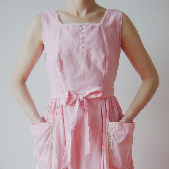 Pastel Carousel - pink vintage dress