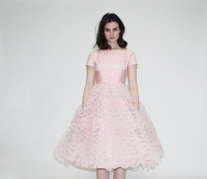 Pastel Carousel - pink vintage prom dress
