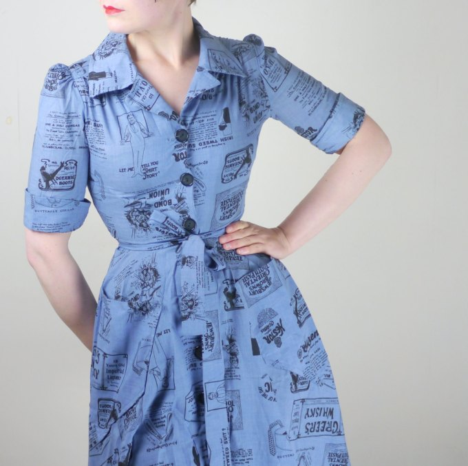 Pastel Carousel - blue vintage dress