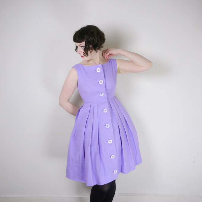 Pastel Carousel - purple vintage dress