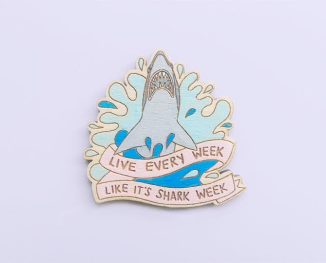 Pastel Carousel - Shop Small - Pastel Shark Brooch