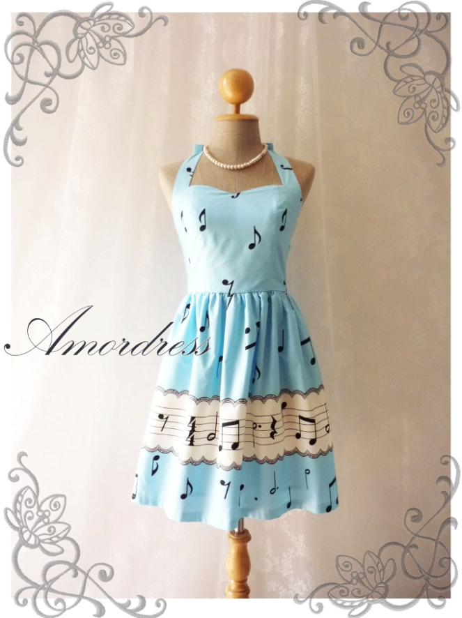Pastel Carousel - Shop Small - Handmade Dress