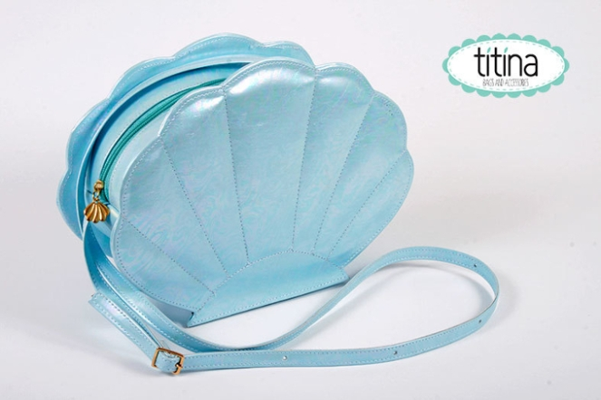 Pastel Carousel - Shop Small - Handmade Mermaid Shell Purse