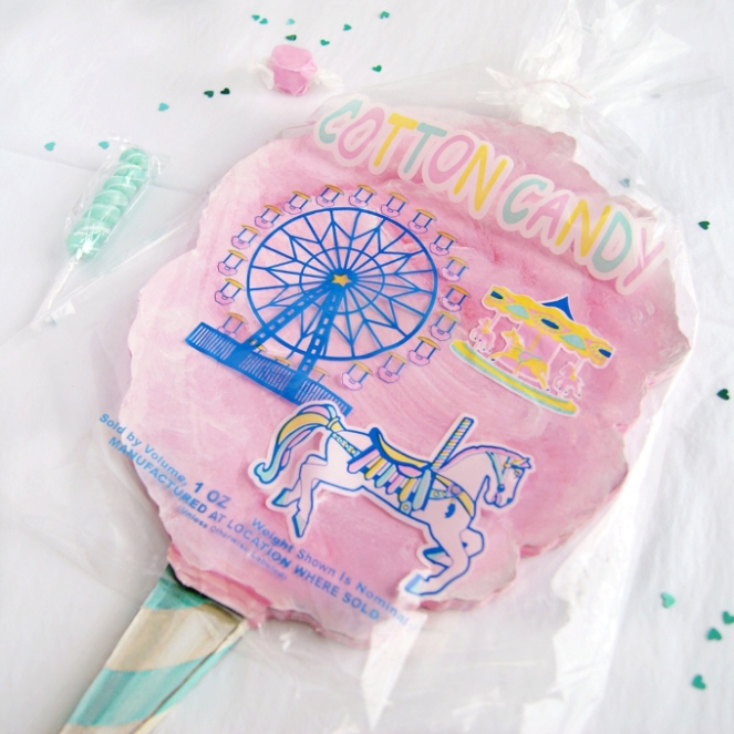 Pastel Carousel - Shop Small - Pink Cotton Candy Plaque