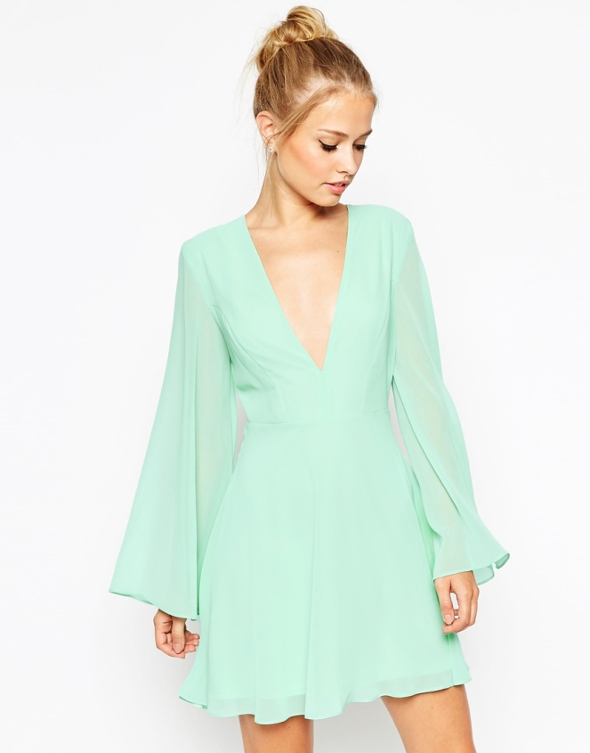 Pastel Carousel - Dresses for Fall - Asos Mint Long Sleeve Dress