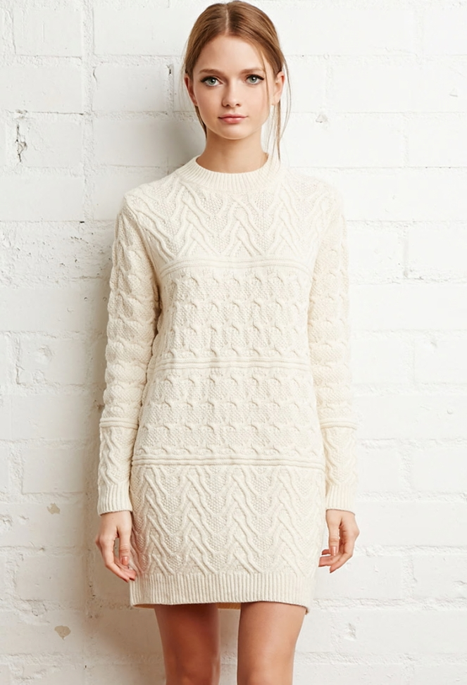 Pastel Carousel - Dresses for Fall - Forever 21 Cable Knit Sweater Dress