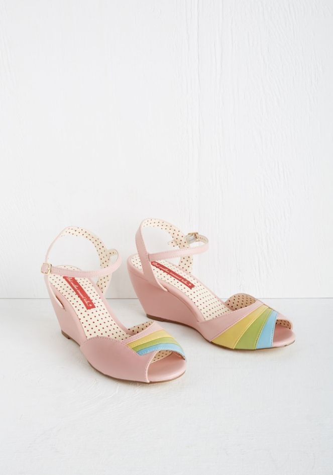 Pastel Carousel - Monday Must Haves - Summer Sales - Pastel Rainbow Shoes