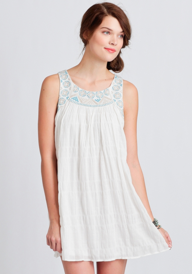 Pastel Carousel - Monday Must Haves - Summer Sales - White Embroidered Dress
