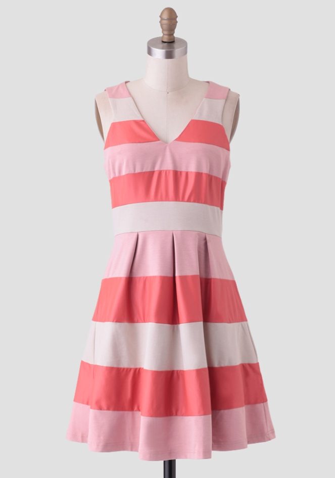 Pastel Carousel - Monday Must Haves - Summer Sales - Pink Striped Dress