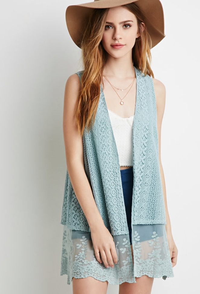 Pastel Carousel - Monday Must Haves - Summer Sales - Blue Vest