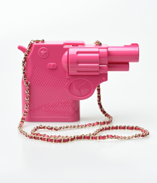 Pastel Carousel | Monday Must Haves | Novelty Bags | Pink Gun Bag