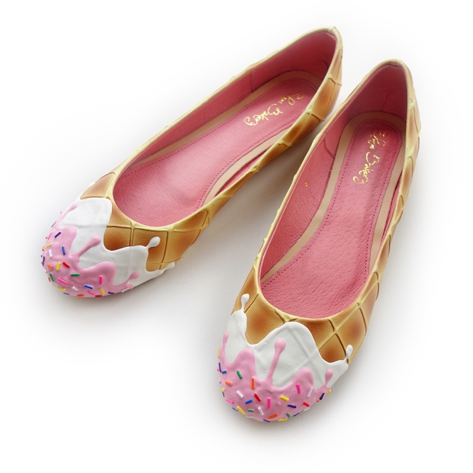 Pastel Carousel   Monday Must Haves   Shoe Bakery   Pink Syrup Ice Cream Flats