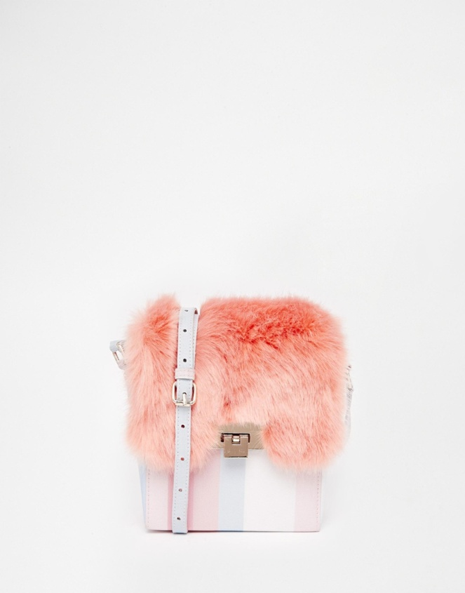 Pastel Carousel | Monday Must Haves | Asos | Stripe And Fur Cross Body Bag