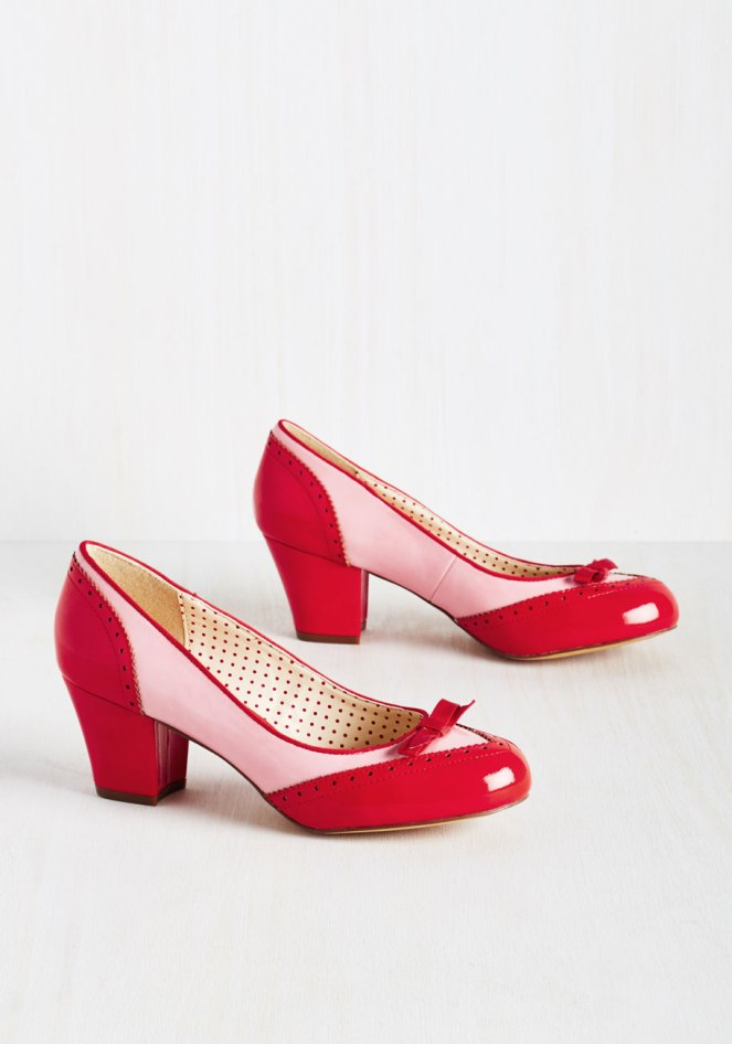 Pastel Carousel | Monday Must Haves | Valentine's Day | ModCloth Red And Pink Shoes