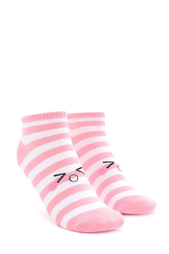 Pastel Carousel | Monday Must Haves | Valentine's Day | Forever 21 Pink Striped Emoticon Socks
