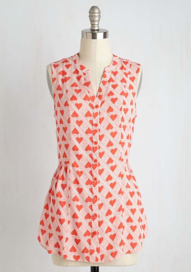 Pastel Carousel   Monday Must Haves   Valentine's Day   ModCloth Hearts Top
