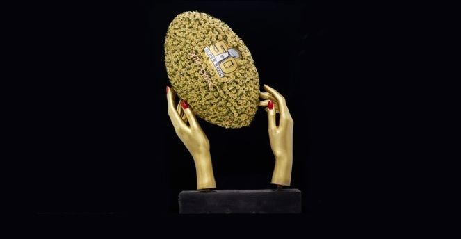 Pastel Carousel | Superbowl 50 | CFDA Designer Footballs | NFL Auction | Betsey Johnson
