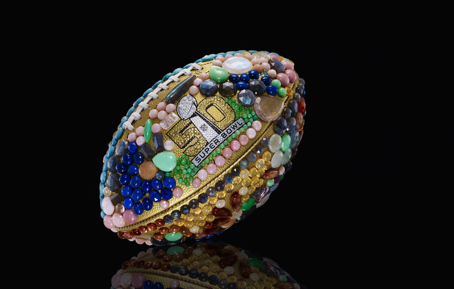 Pastel Carousel | Superbowl 50 | CFDA Designer Footballs | NFL Auction | Irene Neuwirth - Irene Neuwirth