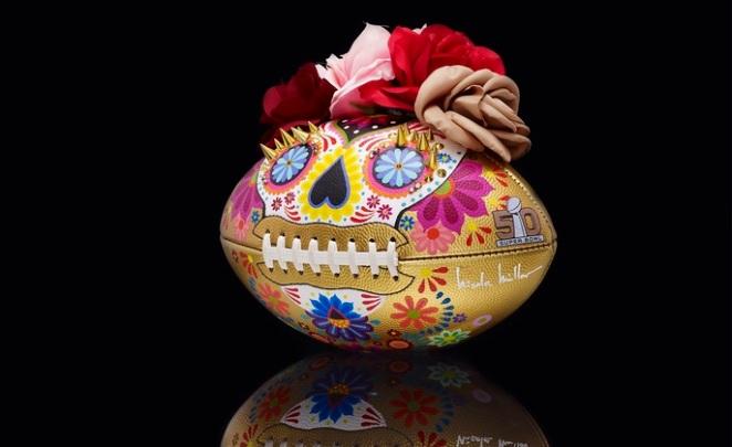 Pastel Carousel | Superbowl 50 | CFDA Designer Footballs | NFL Auction | Nicole Miller - Nicole Miller