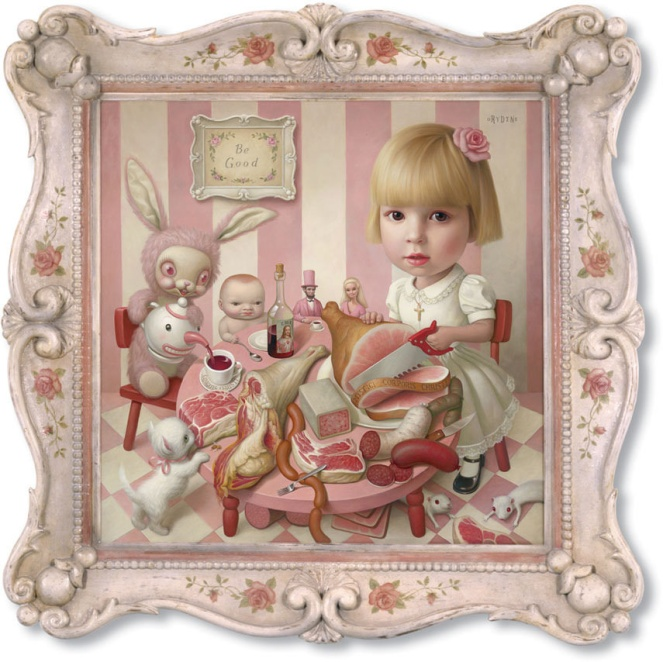 Pastel Carousel | Family | Home Renovation | DIY Pink Stripes | Mark Ryden | Rosie's Tea Party