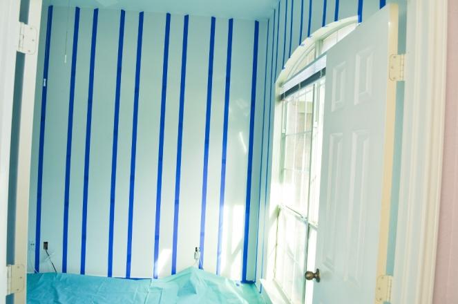 Pastel Carousel | Family | Home Renovation | DIY Pink Stripes