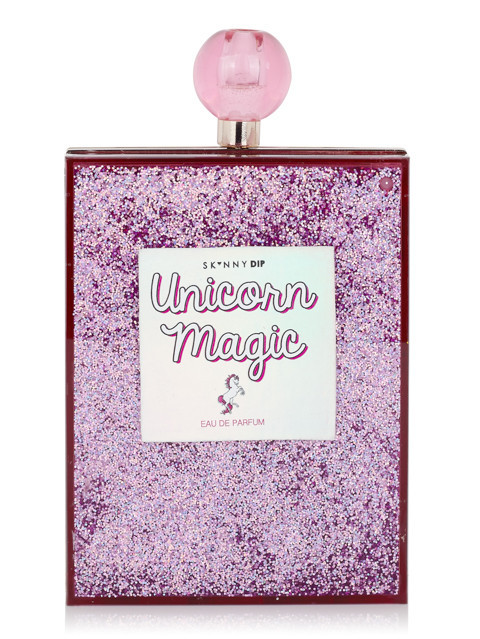 Pastel Carousel | Novelty Bags and Purses | Skinnydip Unicorn Magic Glitter Clutch