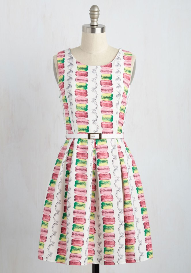 Pastel Carousel | Monday Must Haves | Sweet Spring Novelty Prints | Macaron Print Dress | ModCloth