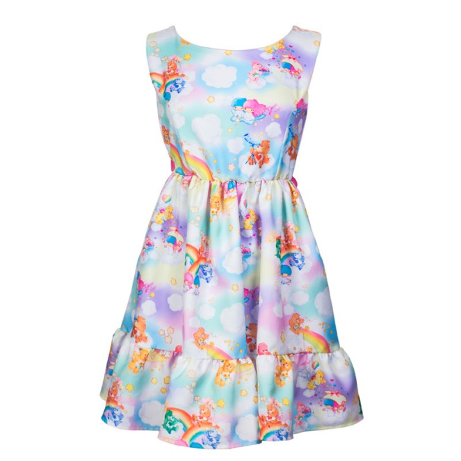 Pastel Carousel | Monday Must Haves | Sweet Spring Novelty Prints | Little Twin Stars and Care Bears Print Dress | JapanLA