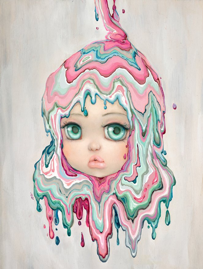 Pastel Carousel | Camilla D'Errico Art Exhibition 2016 | Corey Helford Gallery | Dances With Dreams